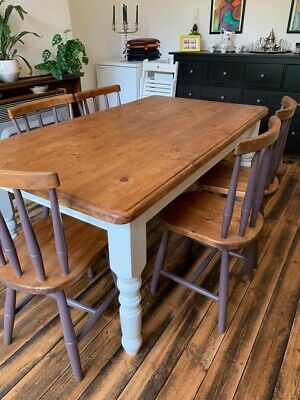Farmhouse Dining Table And Chairs 51 00 Picclick Uk