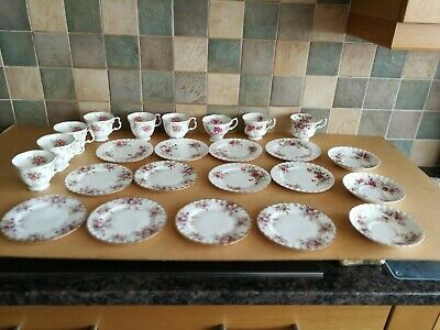 24 Items Of Royal Albert Cups & 6 Saucers Including Tranquillity & Lavender Rose