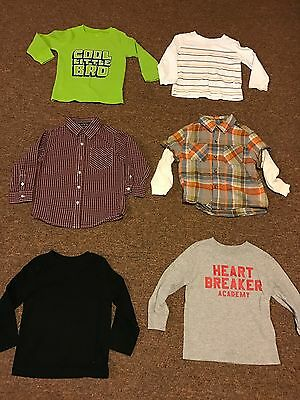 """Lot Of """"6"""" Toddler Boys Shirts...US Size 3t"""