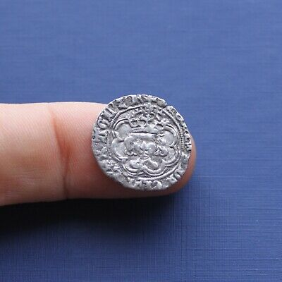 Hammered Silver Coin Henry 7th Half Groat Canterbury c 1485 AD