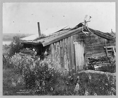 Cabin of Rex Beach,Rampart,Alaska,AK,Antlers,c1916,United States,Exterior View