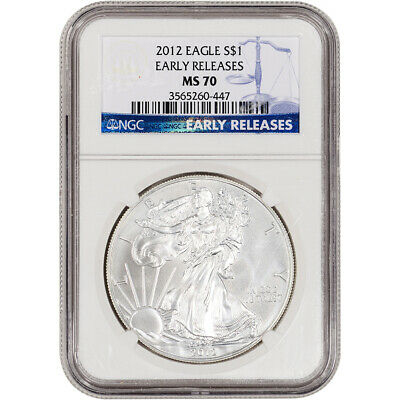 2012 American Silver Eagle - NGC MS70 Early Releases