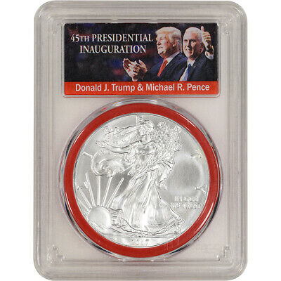 2017 American Silver Eagle - PCGS MS70 First Strike Trump Label