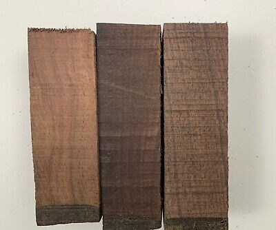 """(3) LOT 3,  ROSEWOOD POOL CUE BLANK TURNING WOOD KNIFE SCALES  2"""" x 6"""" FREE SHIP"""