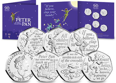 !!!!RARE -OWN THE COMPLETE PETER PAN BU 50p SET - RARE!!!! SEALED CERTIFIED BUNC