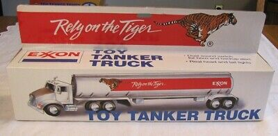 "EXXON  Toy tanker truck  ""Rely on the Tiger""  MIB"
