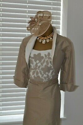 ~ LINEA RAFFAELLI ~ Raw Silk Dress & Jacket BNWT Size 16 Mother of the Bride