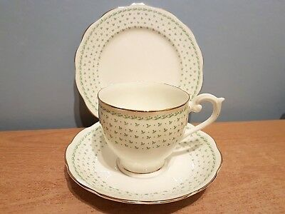 Beautiful Queen Anne Fine Bone China Trio. Delicate Pattern - Very Pretty.  VGC