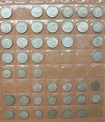 45 King George VI 0500 Silver Shillings and Sixpences VF+