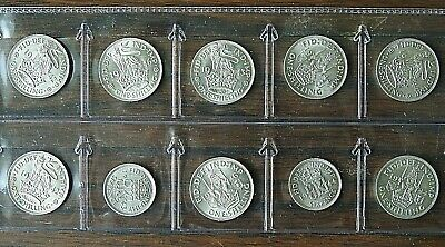 King George VI 0500 Silver Coins, 8 Shillings & 2 Sixpences  EF+ poss A-UNC