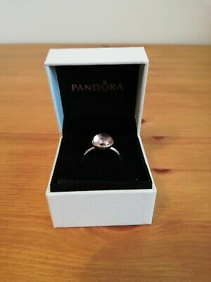 ad06bc55078de 🏵NEW GENUINE PANDORA pink poetic droplet ring size 52 with pouch ...