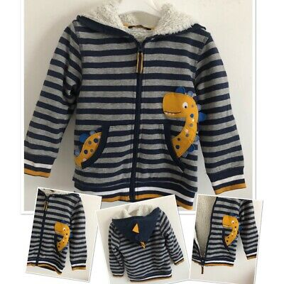 George Boys Warm Padded Dinosaur  Cardigan 3-4 Years