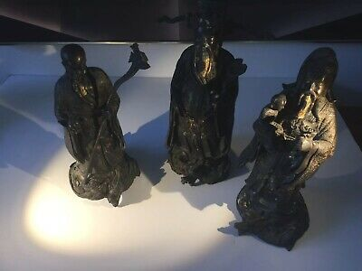 Three Antique 19c Or Earlier Chinese Statues
