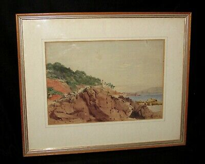 Rare, Late 19th Century 'Henri Alexandre Saffrey' Original French Watercolour.