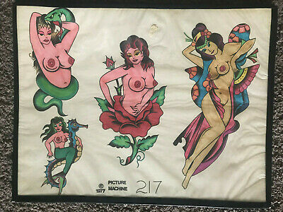 Vintage 1977 #217 Risque Geisha Girl Lingerie Snake Picture Machine