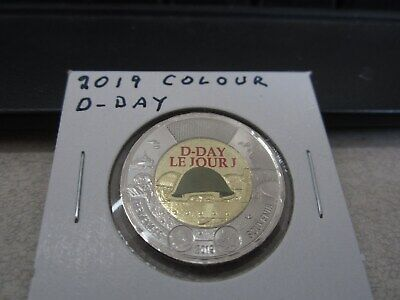 2019 - D-Day - Canada $2 - Brilliant Uncirculated Canadian two dollar - Painted