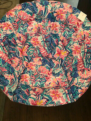 Pottery Barn Lilly Pulitzer Hang-A-Round Chair Slathouse Soiree Print NEW