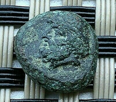 "Birytis, Troas 300 Bc Ae11 ""Kabeiros & Club"" Ancient Greek Bronze Coin"