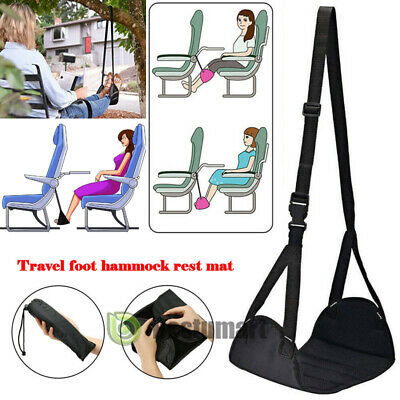 Comfy Hanger Travel Airplane Footrest Memory Foam Foot Rest Relax Office Home US