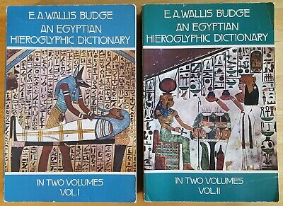 An Egyptian Hieroglyphic Dictionary- Budge - Archaeology/ Bible/ Religion