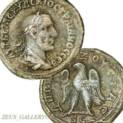 TRAJAN DECIUS Tetradrachm Eagle Prieur 528 Large Ancient Roman Coin Antioch mint