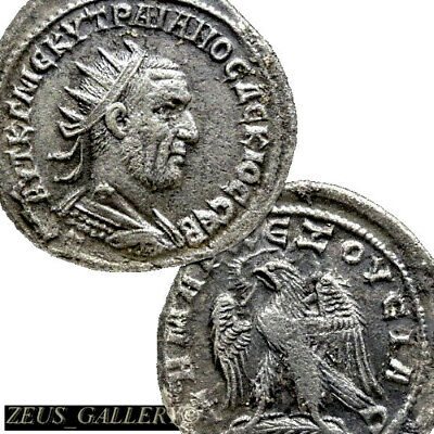 VERY RARE TRAJAN DECIUS 2 Known Prieur 567 Ancient Roman Silver Tetradrachm Coin