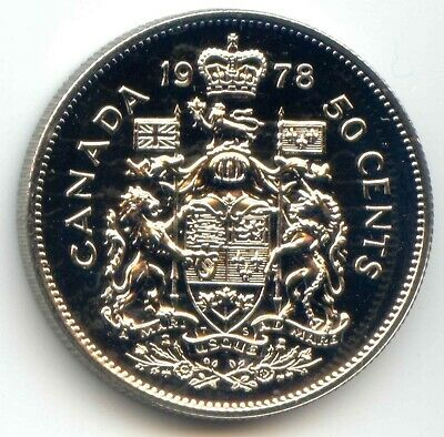 Canada 1978 Uncirculated Specimen Half Dollar 50c Fifty Cents 50 Cent Coin