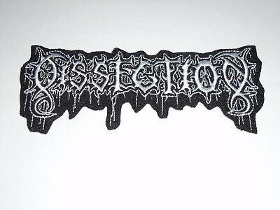 Dissection Black Metal Iron On Embroidered Patch
