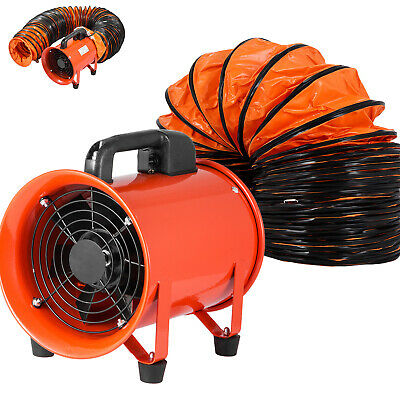 200mm Industrial Ventilator Extraction Fan 10m Hose Electrical Blower exhaust