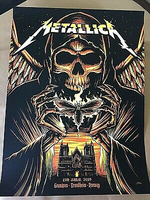 🔥 METALLICA Trondheim Norway JULY 13th 2019 LTD NUMBERED SE POSTER SCREEN PRINT