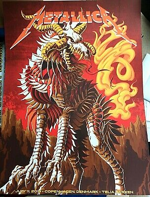 🔥 Metallica Copenhagen Denmark July 11 2019 Ltd Numbered Se Poster Screen Print