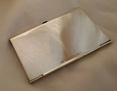 Tiffany & Co 1837 Sterling Silver 925 Business Card Holder Case