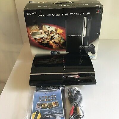 Sony PlayStation 3 MotorStorm Limited Edition 80GB Piano Black Console FOR PARTS