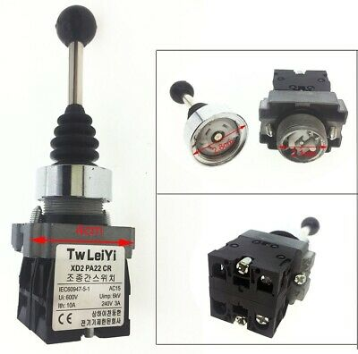 Spring Return Momentary Type Monolever Joystick Switch PA22 SPST 2 NO 2 Position