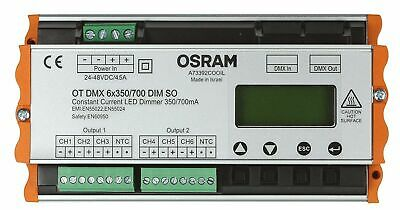 NEU Osram OT Optotronic DMX 6X350/700/24-48 SO DIM 12X1 LED-Dimmer / 6-Kanal