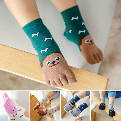 Calcetines Animal Cinco Dedos Sock Medias Del Pie Infantil Bebitos de Niño Suave
