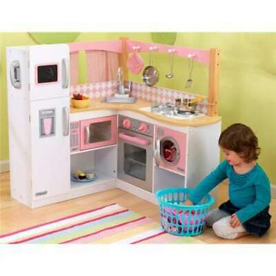 KIDKRAFT GRAND GOURMET Deluxe Corner Kitchen Kids Pretend ...