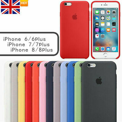 For Apple i Phone 6 6S 7 8 Plus Genuine Original Hard Silicone Back Case Cover