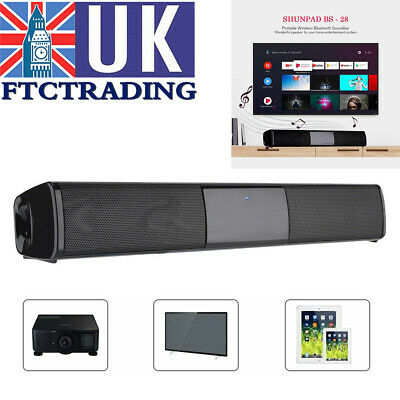Wireless Bluetooth 4.0 Soundbar 2 Speakers Sound Bar MP3 TV Phones Subwoofer