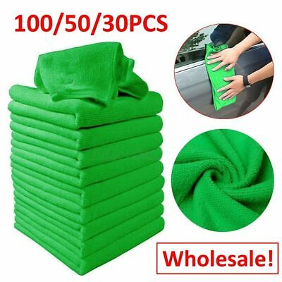 100PC Green Micro Fiber Auto Car Detailing Cleaning Soft Cloth Towel Duster Wash