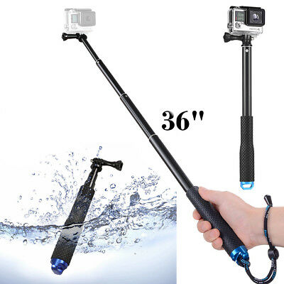 GoPro Waterproof Selfie stick 36in Extension Pole for Hero Session Black 6 5 4 3