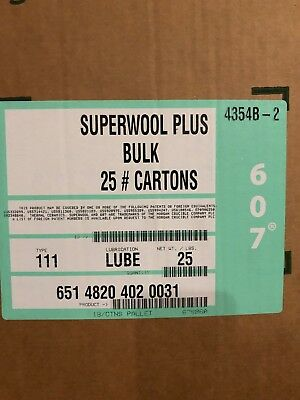 Lubricated Superwool Bulk Fibre Body Soluble Blanket approx 11 kg box