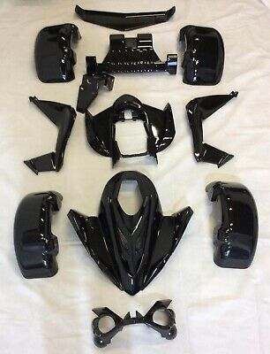 Spy 250F1-350F1-A Body Kit 15pc, Spy Racing, Quad Bikes, Metallic Black
