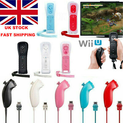 Remote and Nunchuck Controller WITH Motion Plus inside For NINTENDO WI 5Colors*