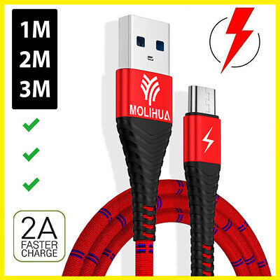 Molihua Micro USB Fast Charging Phone Data Charger Cable for Samsung Android UK