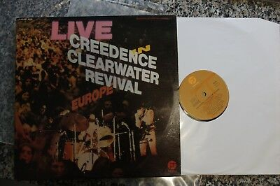 Creedence Clearwater Revival Live in Europe double LP Fantasy