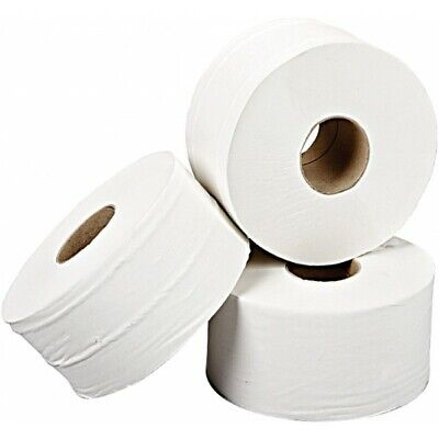 SAPPHIRE 2 Ply White Mini Jumbo Toilet Rolls - 200m - Pack of 12 WTS952002