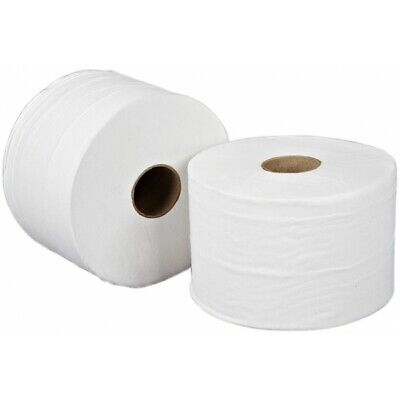 SAPPHIRE 2 Ply White Mini Jumbo Toilet Rolls - 115m - Pack of 12 WTL951152