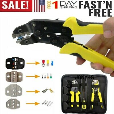 4In1 Wire Crimpers Ratcheting Terminal Crimping Pliers Cord End Terminals Tool