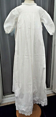 Vintage Embroidered Baby Christening Gown